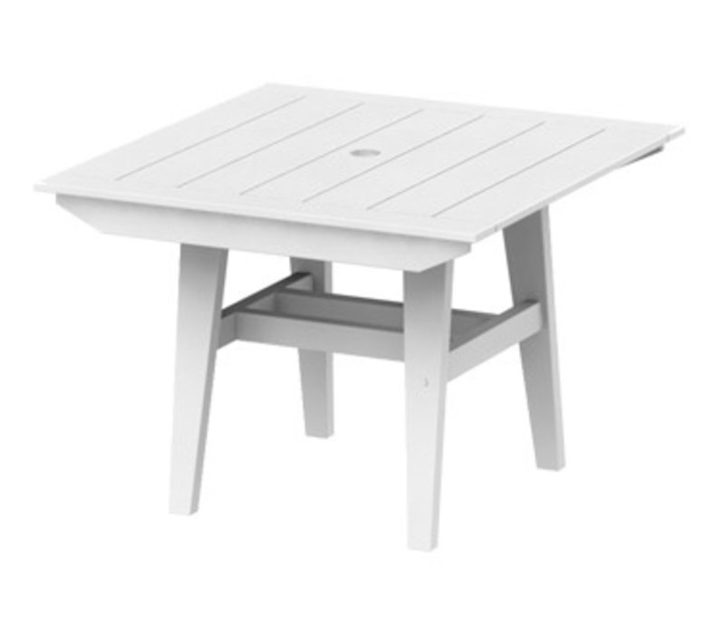 MAD DINING TABLE 40x40 SQUARE   WHITE