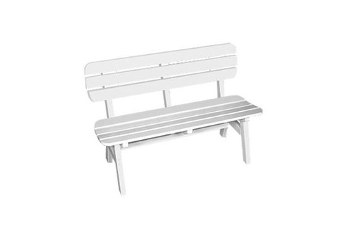 SEASIDE CASUAL PORTSMOUTH 4FT BENCH - WHITE