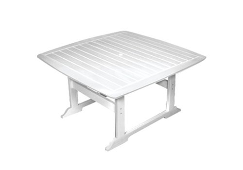 SEASIDE CASUAL PORTSMOUTH 56 INCH SQUARE DINING TABLE - WHITE