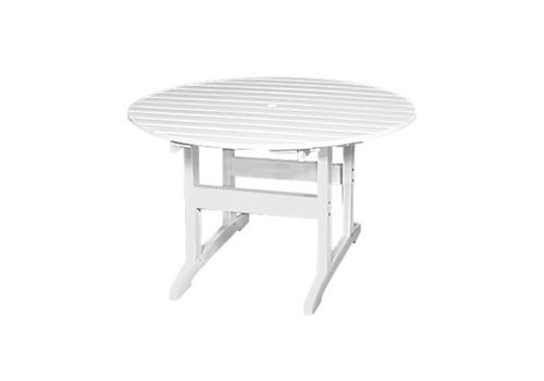 SEASIDE CASUAL SALEM 48 INCH ROUND DINING TABLE - WHITE