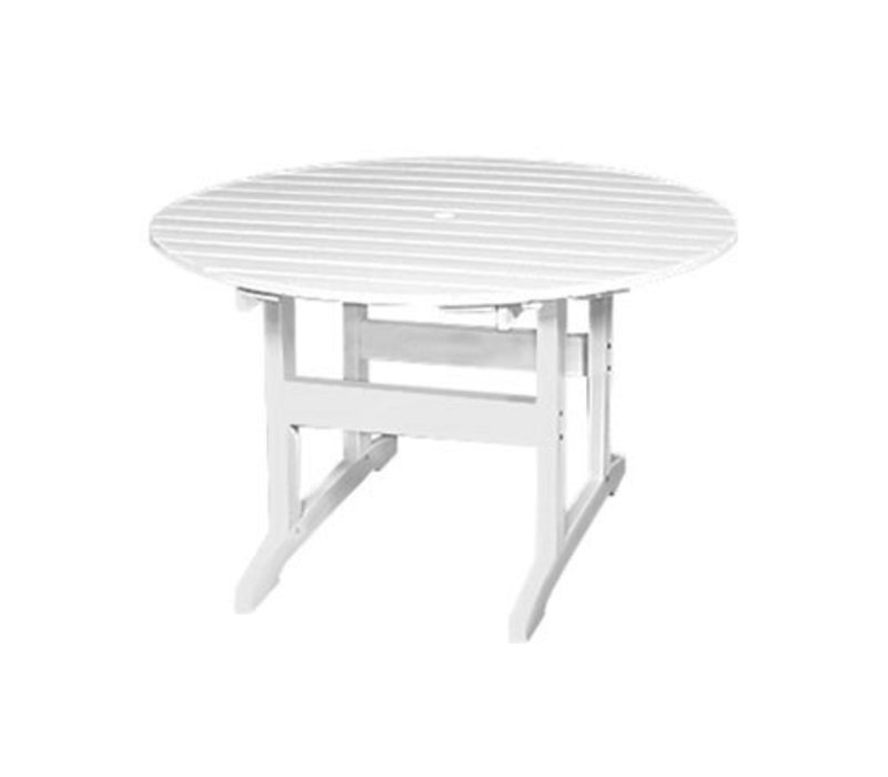 Exceptionnel SALEM 48 INCH ROUND DINING TABLE   WHITE