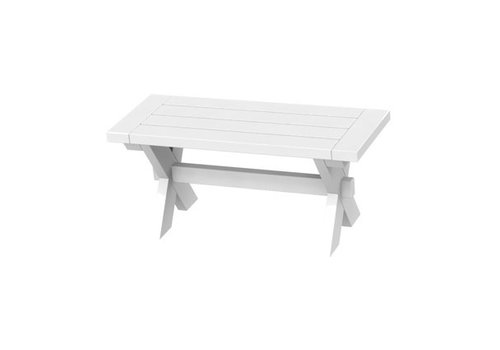 SEASIDE CASUAL SONOMA 36 INCH BENCH - WHITE
