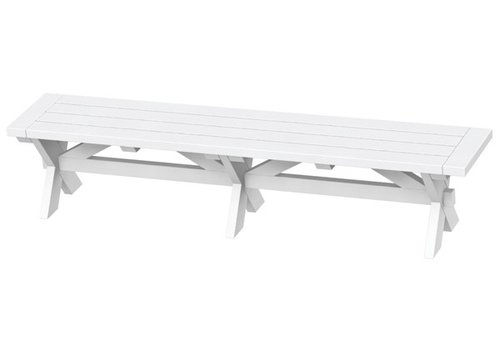 SEASIDE CASUAL SONOMA 76 INCH BENCH - WHITE