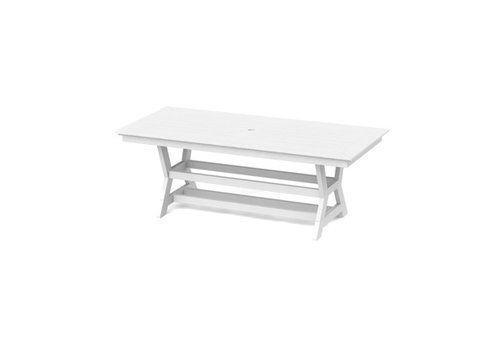SEASIDE CASUAL SYM 36 x 80 DINING TABLE - WHITE