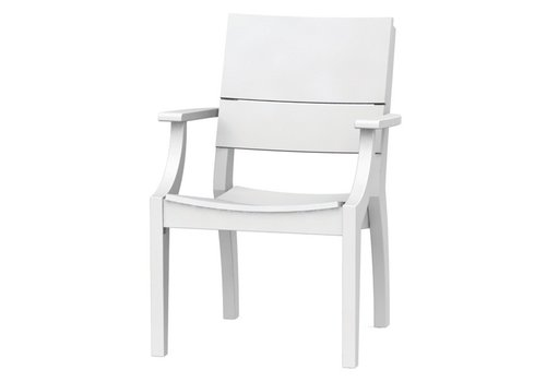 SEASIDE CASUAL SYM ARM CHAIR - WHITE