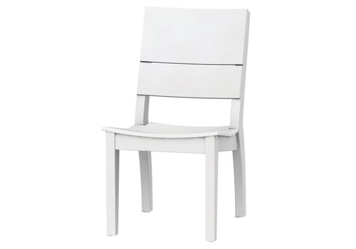 SEASIDE CASUAL SYM SIDE CHAIR IN WHITE
