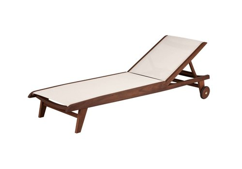 JENSEN LEISURE FURNITURE TOPAZ SLING CHAISE LOUNGE NATURAL