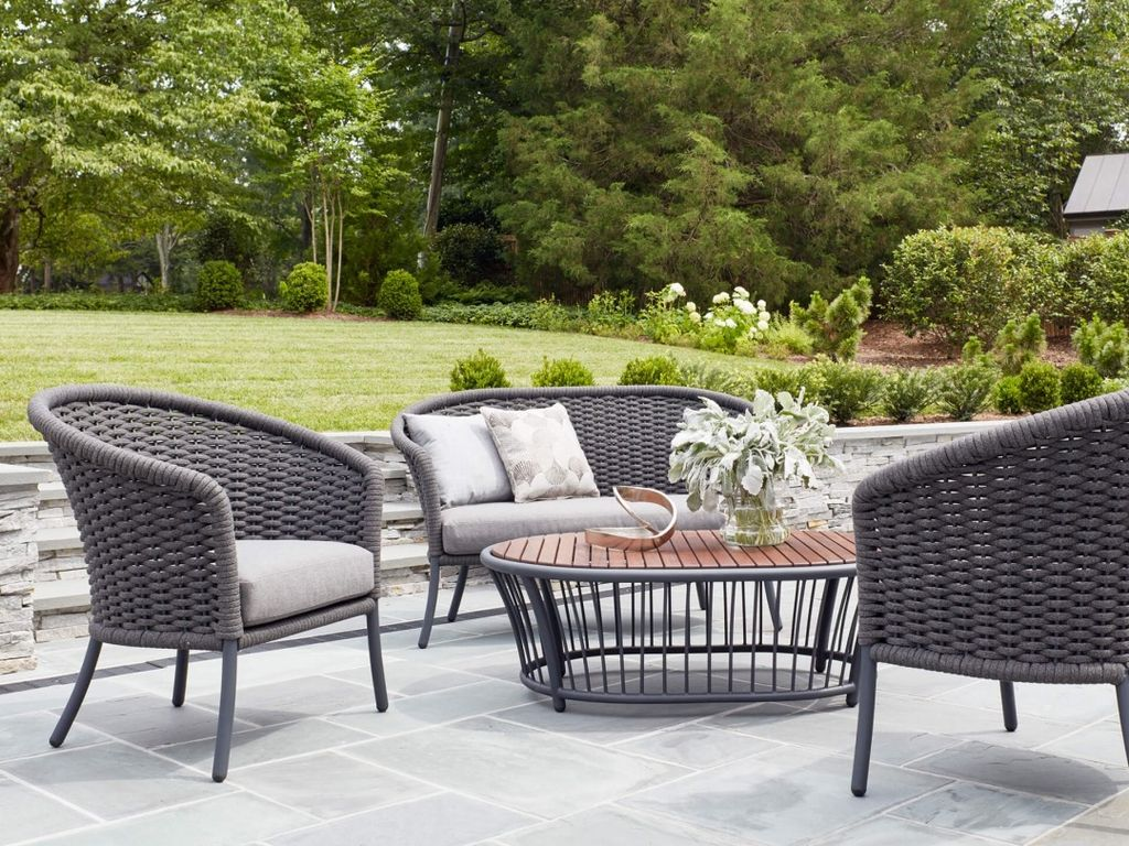 Delightful Gallery Of Casual Classics Outdoor Furniture. Outdoor Heaters Patio  Furniture Plus Leisure Furniture Cordial Curved Loveseat Gray ...