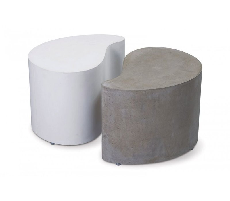PAIRED ACCENT TABLES - ONE WHITE/ONE GRAY