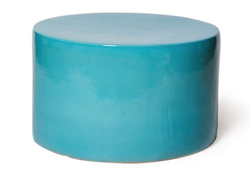 SEASONAL LIVING BABY CARONESS ACCENT TABLE IN TURQUOISE BLUE