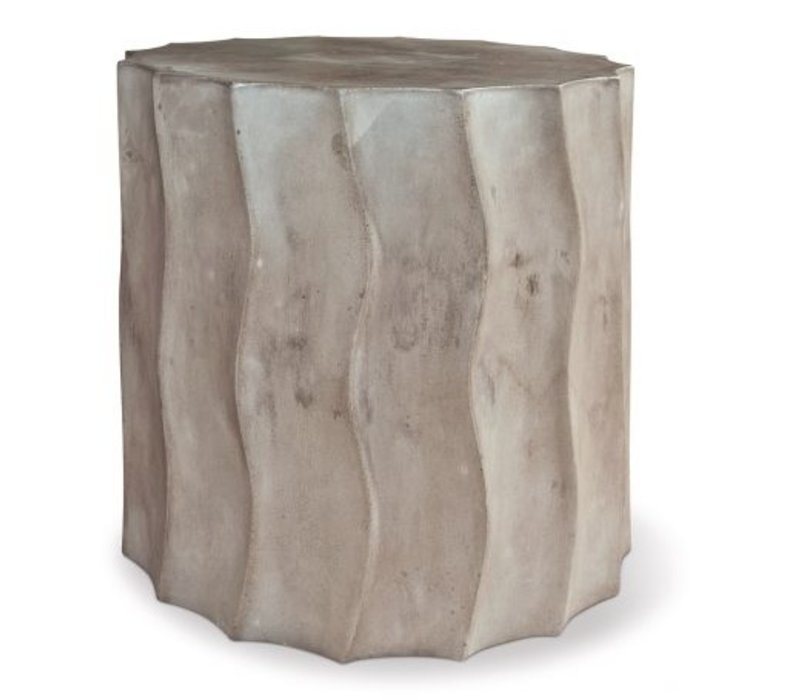 WAVE ACCENT TABLE SHORT SLATE GREY