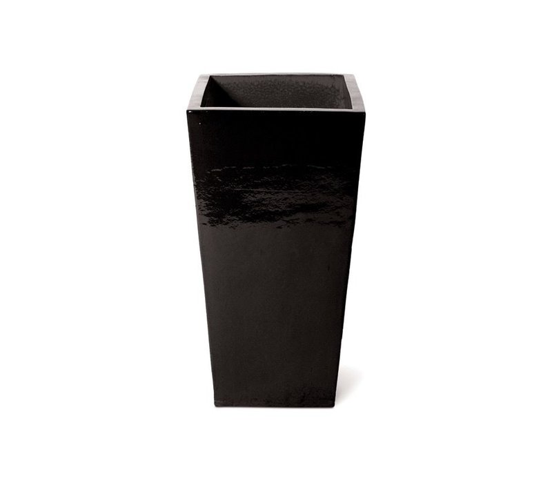 CERAMIC ENGLISH PLANTER - BLACK