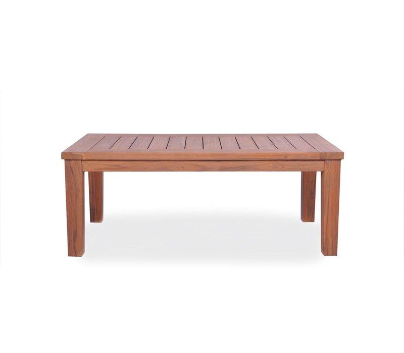 45 RECTANGULAR TAPERED LEG COCKTAIL TABLE - ANTIQUE GRAY TEAK