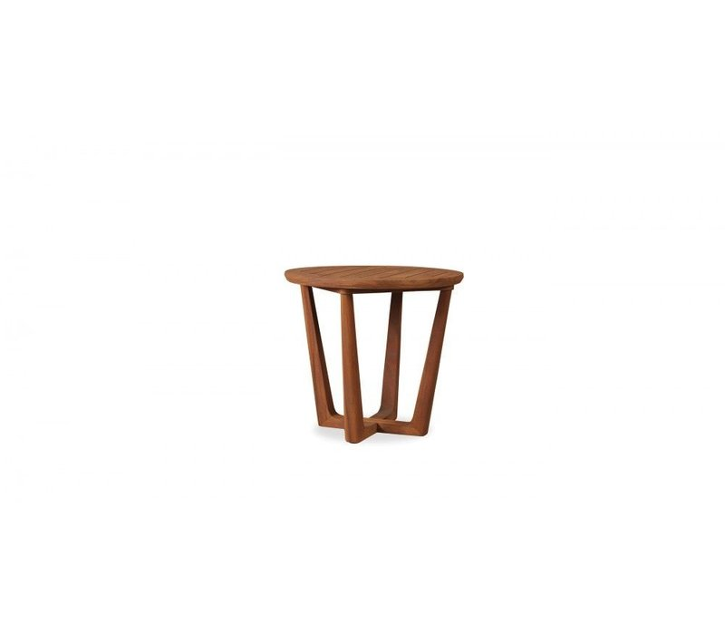 TEAK 24  ROUND CONTEMPORARY END TABLE