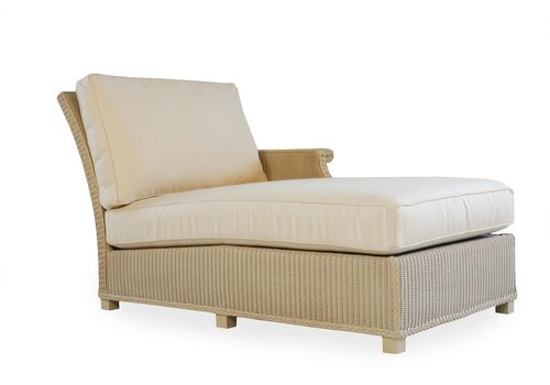 LLOYD FLANDERS HAMPTONS LEFT ARM CHAISE WITH GRADE B FABRIC / SELF WELT