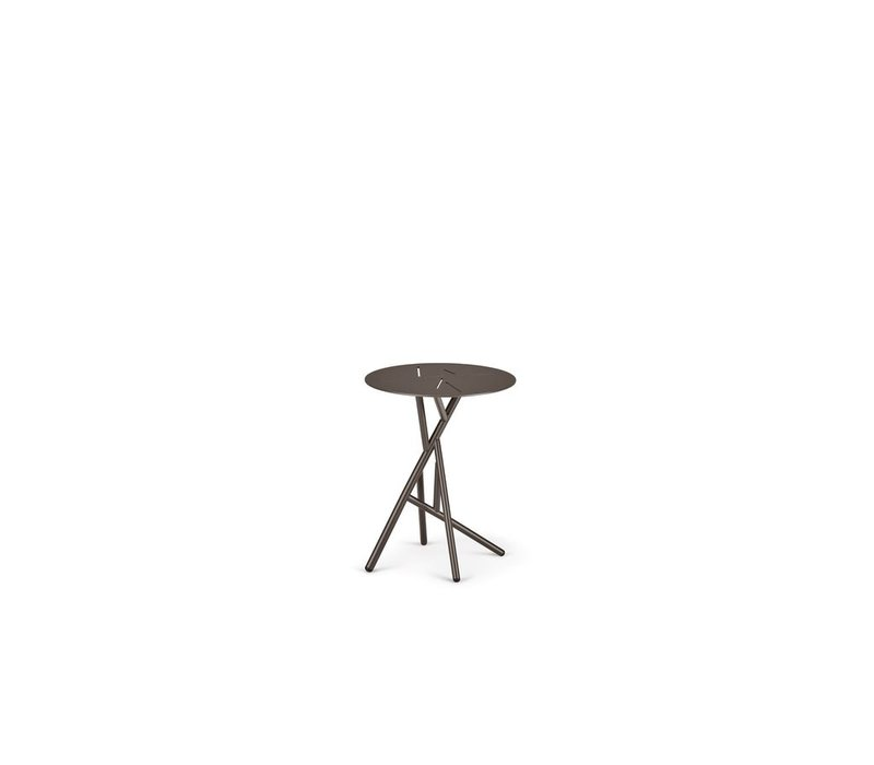 MANGROVE SIDE TABLE IN BLACK PEPPER