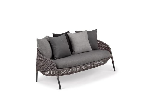 DEDON AHNDA 2 SEATER SOFA - GRAPHITE (frame only/seat and back cushions sold individually)