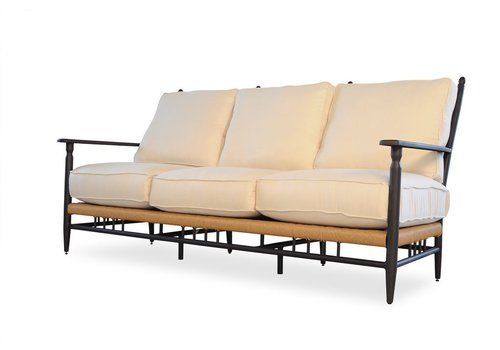 LLOYD FLANDERS LOW COUNTRY SOFA WITH GRADE C FABRIC / SELF WELT