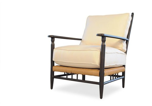 LLOYD FLANDERS LOW COUNTRY LOUNGE CHAIR WITH GRADE C FABRIC / SELF WELT