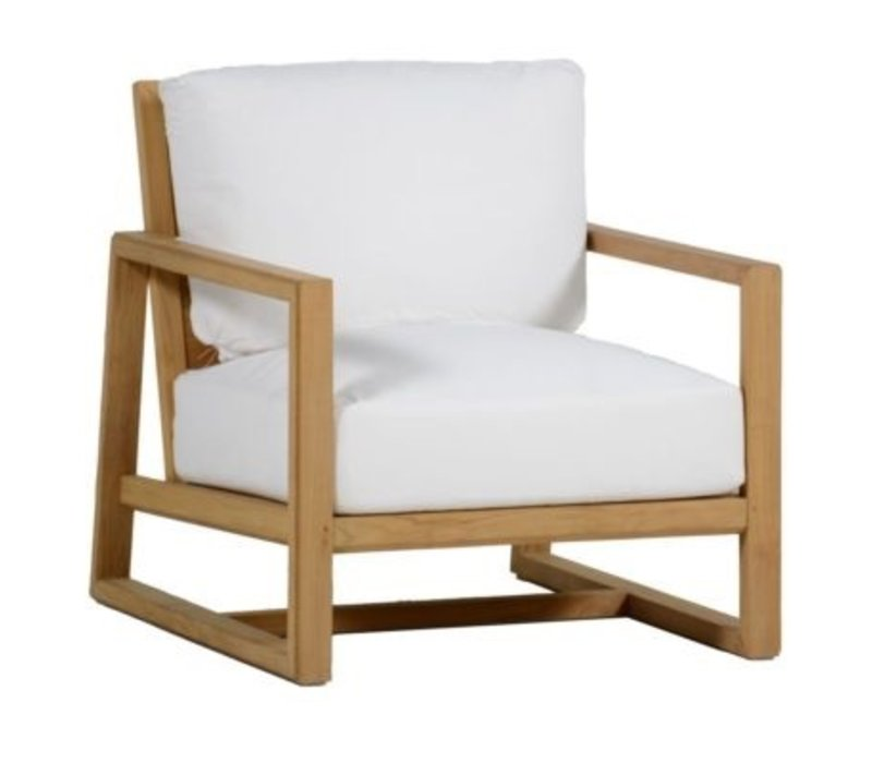 High Quality SUMMER CLASSICS AVONDALE NATURAL TEAK LOUNGE CHAIR   FRAME ONLY   CUSHIONS  SOLD SEPARATELY