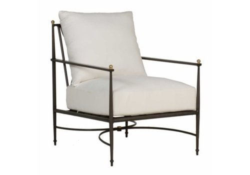 SUMMER CLASSICS ROMA LOUNGE CHAIR - SLATE GRAY