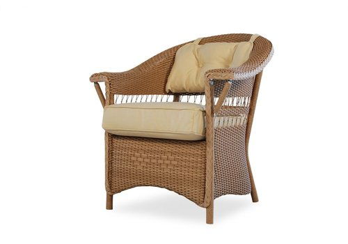 LLOYD FLANDERS NANTUCKET LOUNGE CHAIR WITH  GRADE A FABRIC / CONTRASTING WELT