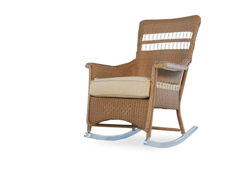 LLOYD FLANDERS NANTUCKET PORCH ROCKER WITH GRADE A FABRIC / SELF WELT