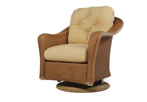 LLOYD FLANDERS REFLECTIONS SWIVEL GLIDER LOUNGE CHAIR WITH GRADE D FABRIC