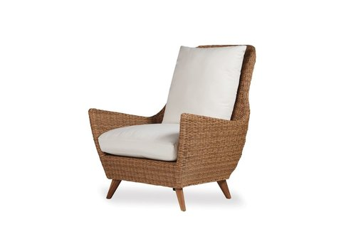 LLOYD FLANDERS TOBAGO HI-BACK LOUNGE CHAIR WITH GRADE A FABRIC / NO WELT