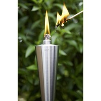 ORCHOS STAINLESS STEEL OUTDOOR GARDEN CONE TORCH - WOOD POST