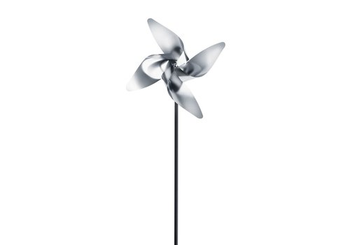 BLOMUS VIENTO TRADITIONAL 4 PETAL SMALL PINWHEEL - METAL POST