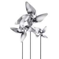 VIENTO TRADITIONAL 4 PETAL MEDIUM PINWHEEL - METAL POST