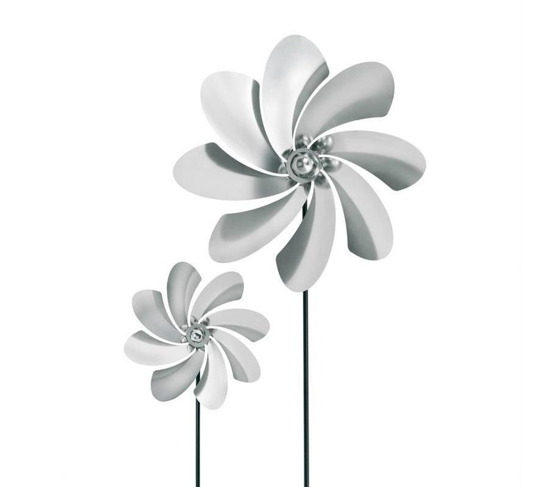 VIENTO CURVE PETALS LARGE PINWHEEL - METAL POST