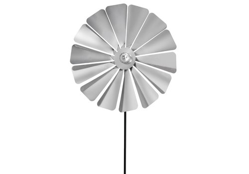 BLOMUS VIENTO LARGE WINDMILL PINWHEEL - METAL GROUND POST