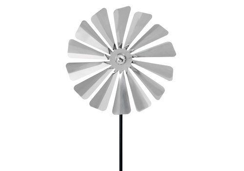 BLOMUS VIENTO SMALL WINDMILL PINWHEEL - METAL GROUND POST