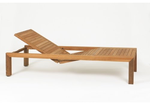 ROYAL BOTANIA IXIT SOLID TEAK CHAISE - OPTIONAL CUSHION SOLD SEPARATELY
