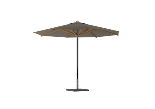 ROYAL BOTANIA SHADY 14FT OCTAGON UMBRELLA - EP STAINLESS STEEL POLE / TEAK RIBS / CAPPUCCINO FABRIC