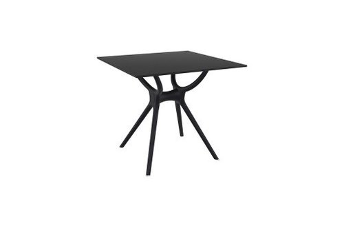 SIESTA AIR SQUARE TABLE 31x31 / BLACK BASE AND LEGS