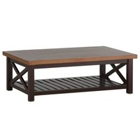 CAHABA COFFEE TABLE OYSTER BASE WITH SLATE GRAY TOP