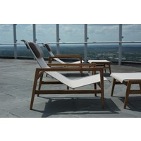 COAST EASY CHAIR IN NATURAL TEAK WITH CANVAS BATYLINE SLING