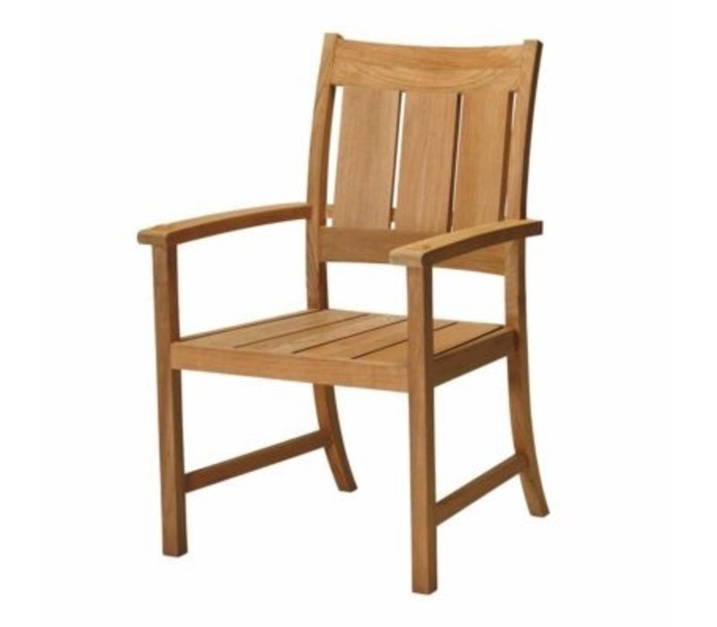 CROQUET TEAK ARM CHAIR - NATURAL