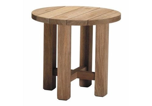 SUMMER CLASSICS CROQUET TEAK 24 INCH ROUND END TABLE - NATURAL