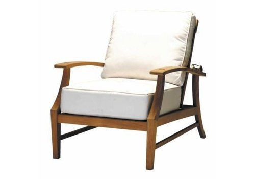 SUMMER CLASSICS CROQUET TEAK RECLINER - NATURAL