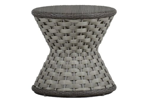 SUMMER CLASSICS JOANNA END TABLE IN OYSTER WEAVE