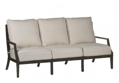 SUMMER CLASSICS LATTICE ALUMINUM SOFA IN SLATE GRAY