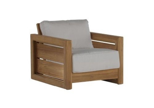 SUMMER CLASSICS BALI LOUNGE CHAIR IN NATURAL TEAK