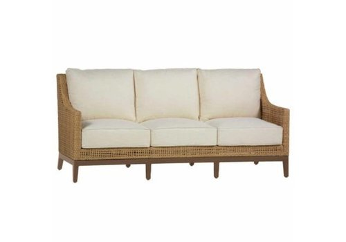 SUMMER CLASSICS PENINSULA SOFA IN RAFFIA AND SANDALWOOD FINISH