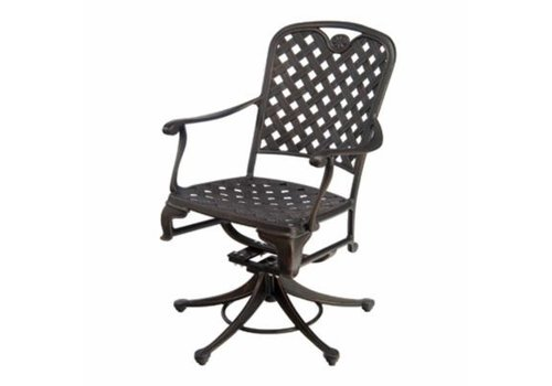 SUMMER CLASSICS PROVANCE SWIVEL ROCKER DINING CHAIR IN ANCIENT EARTH FINISH