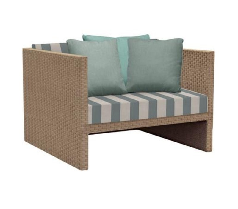 ELEMENTS CLUB CHAIR IN MOCA RESINWEAVE WITH GRADE A FABRIC