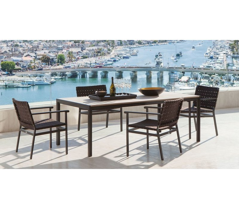 ELEMENTS DINING TABLE WITH MOCA RESINWOOD TOP / NO UMBRELLA HOLE